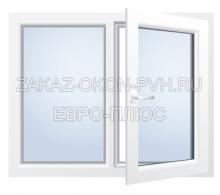 Двухстворчатое окно с поворотной створкой