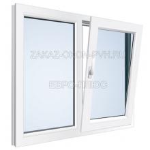 Двухстворчатое окно с поворотно откидной створкой